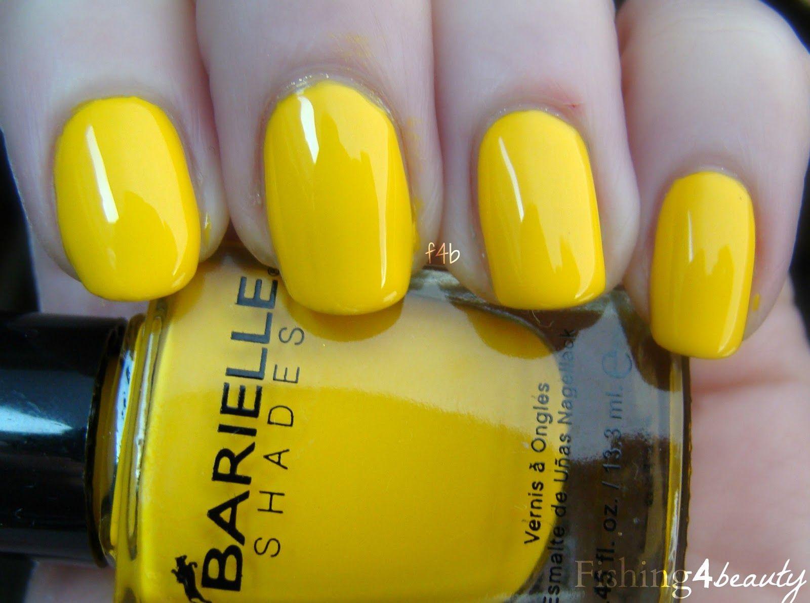 Fishing4beauty Barielle Summer Brights Lemon Drops Yellow Nails Cool Nail Art My Nails