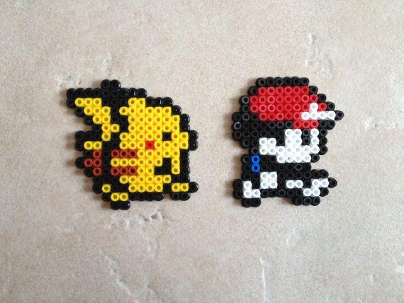 Pokemon Yellow Red And Pikachu Set Pokemon Perler Beads