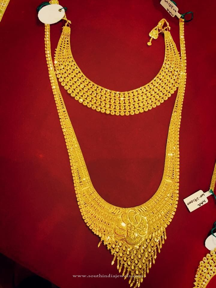 Gold Bridal Jewellery - Choker & Long Necklace | Gold bridal ...
