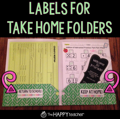 Folders / Take Home Folders Stick these {free} labels in your students' take home / homework folders so there is no confusion on which papers should be returned to school and which papers should be kept at home!Stick these {free} labels in your students' take home / homework folders so there is no confusion on which papers should be returned to school and which...