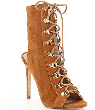 Steve Madden Kennee Ghillie LaceUp Peep Toe Booties #Dillards