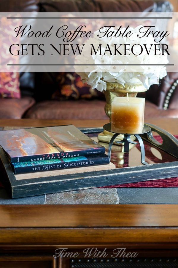 How to's : Give a tired looking wood coffee table tray photo frame a new rustic and antique look with Fusion Mineral Paint. / timewiththea.com