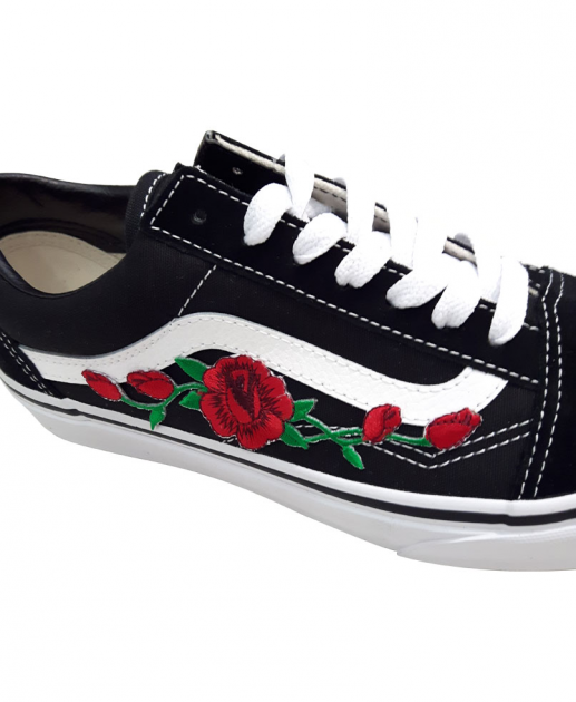chaussures vans a fleur
