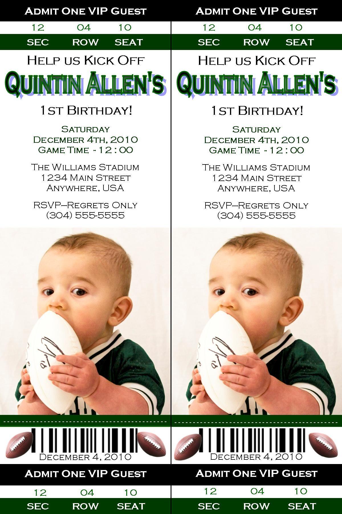 Football Birthday Ticket Invitation. when i have a baby boy | AWD ...