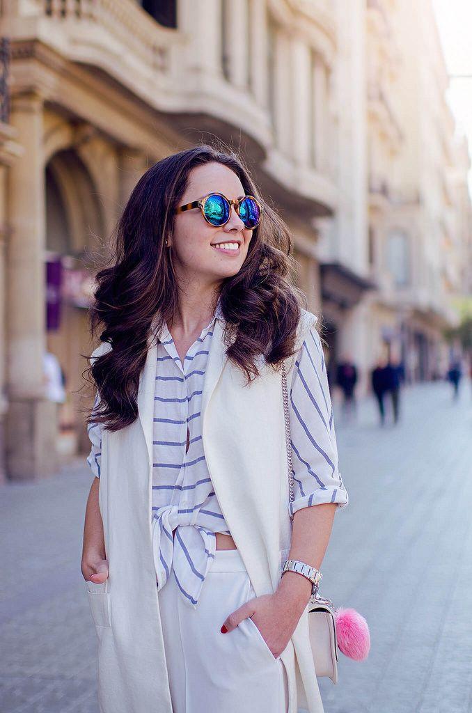 Cómo combinar un pantalón cropped blanco en tu look : MartaBarcelonaSTyle's Blog
