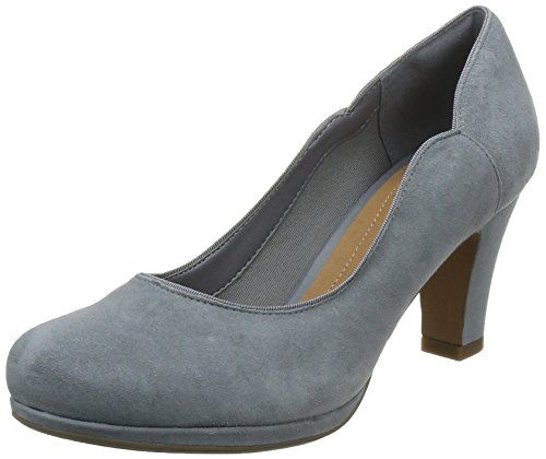Chorus Carol, Escarpins Femme, Noir (Black Leather), 37.5 EUClarks