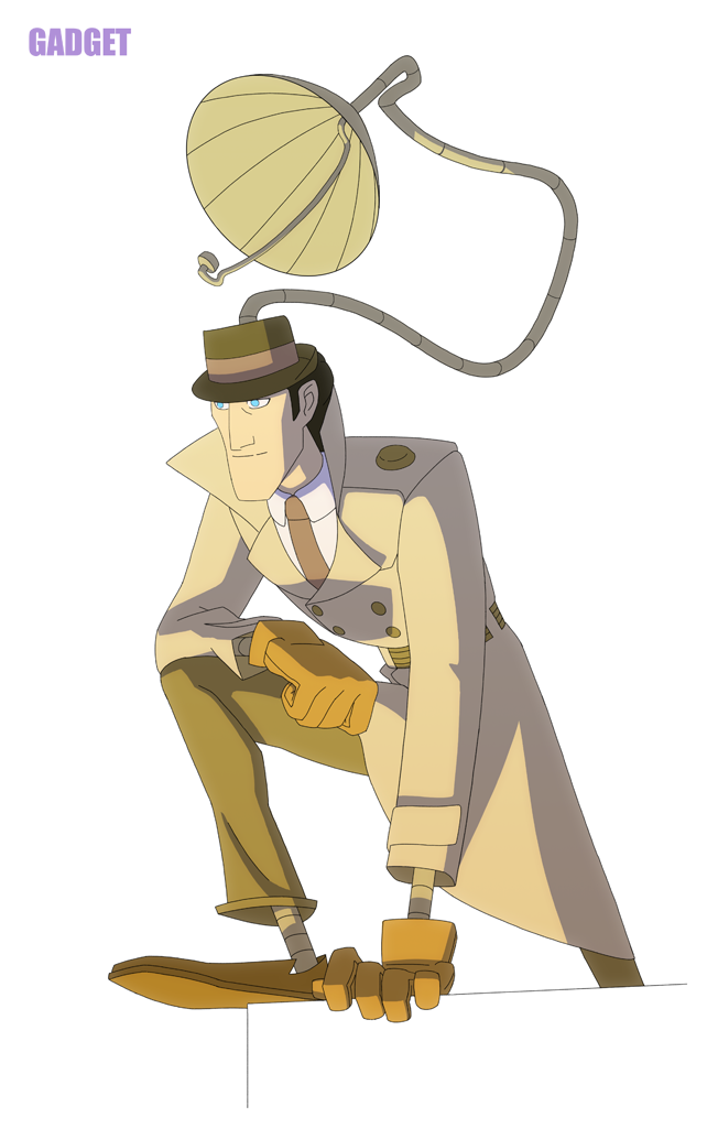 Inspector Gadget Inspector Gadget Favorite Cartoon Character Superhero Art
