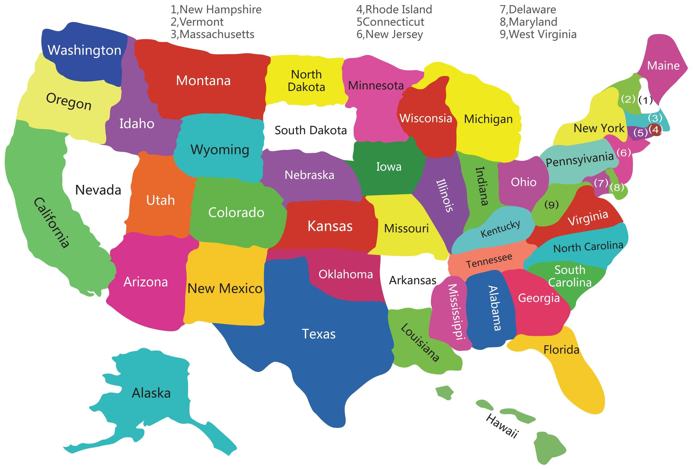 Carte Etats Unis Vierge Regions Jpg 3000 2031 Carte Etats Unis Carte Vierge Carte