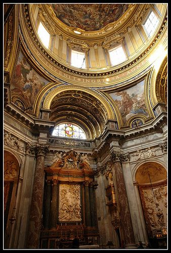Sant Agnese In Agone - Piazza Navona - Rome - Borromini and the father and son architects Girolamo Rainaldi and Carlo Rainaldi