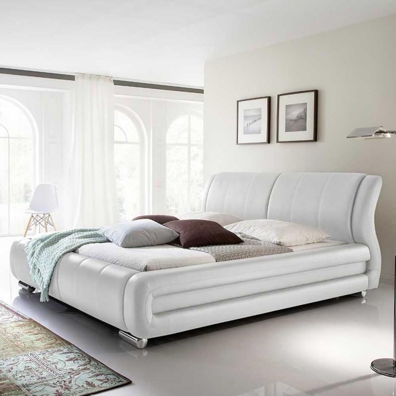 Komfortbett Ukai in Weiß Bett, Komfortbetten und Kunstleder