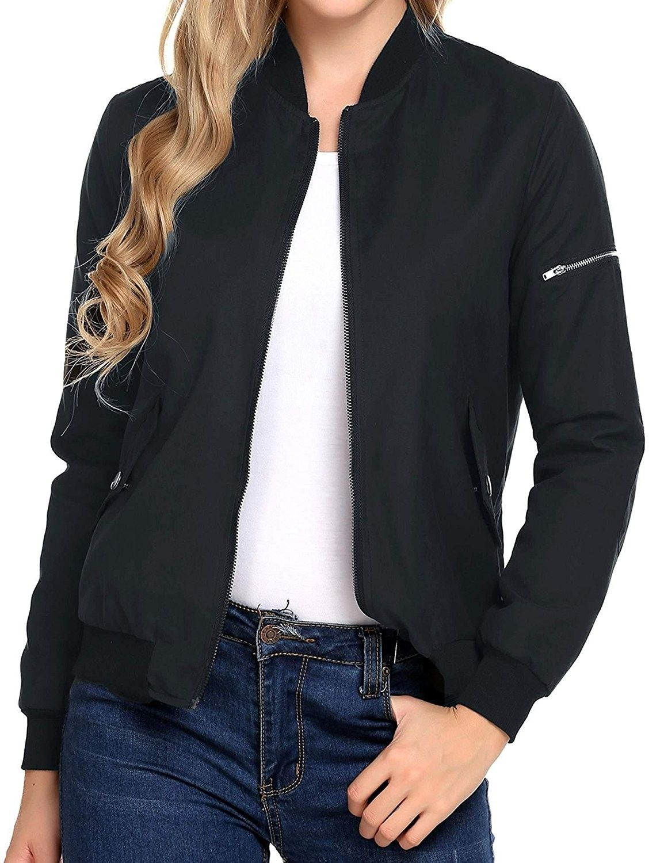 90335b847e24de Women s Zipper Quilted Side Pockets With Press Stud Lightweight ...