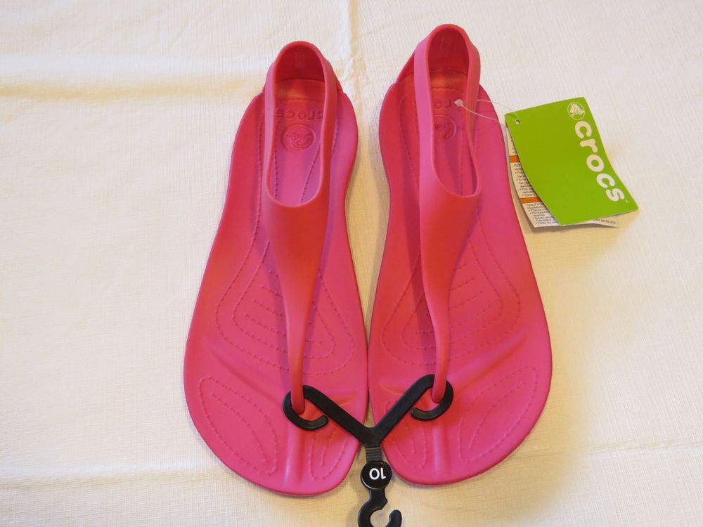 8669988829188 Crocs Sexi Flip candy pink standard fit Womens W 7 sandal shoe 11354-6x3   Crocs…