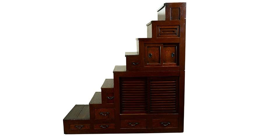 Staircase Chest Jf15035 Antique Furniture Stores Japanese Antiques Japanese Bedroom