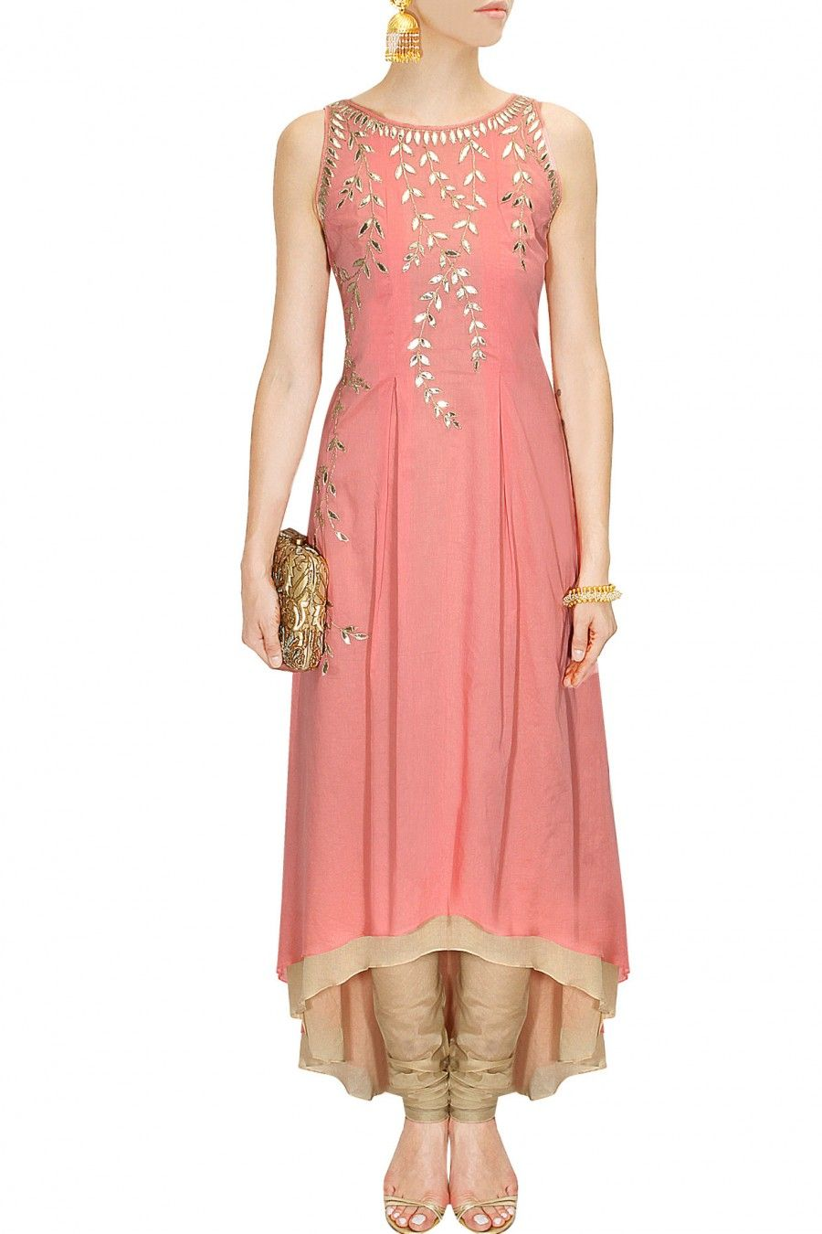 Pink gota patti embroidered kurta available only at Pernia\'s Pop-Up ...