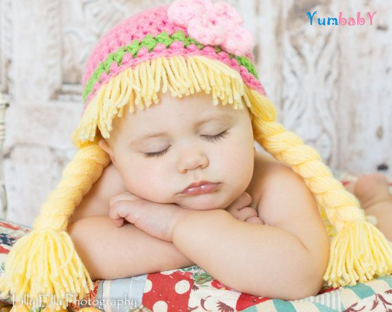Cabbage Patch Hat Baby Wig Hats for Kids Halloween by YumbabY