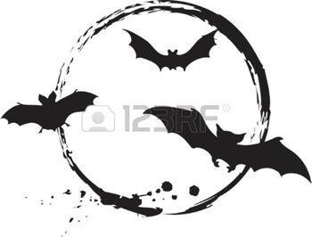 Pochoir halloween chauves souris illustration - Modele dessin chauve souris ...