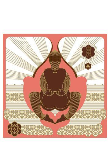 The Lotus, Design Temple graphic art print
