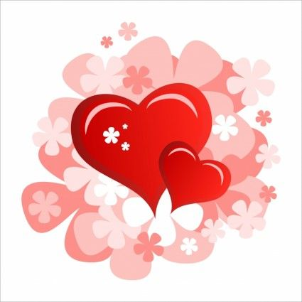 romantic valentine39s day heartshaped red heart vector | 하트 ...