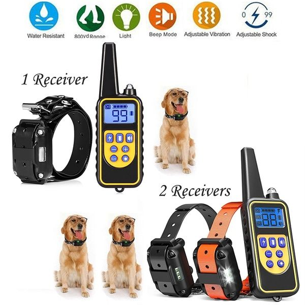 800m Electric Dog Training Collar Bark Stopper Remote Control