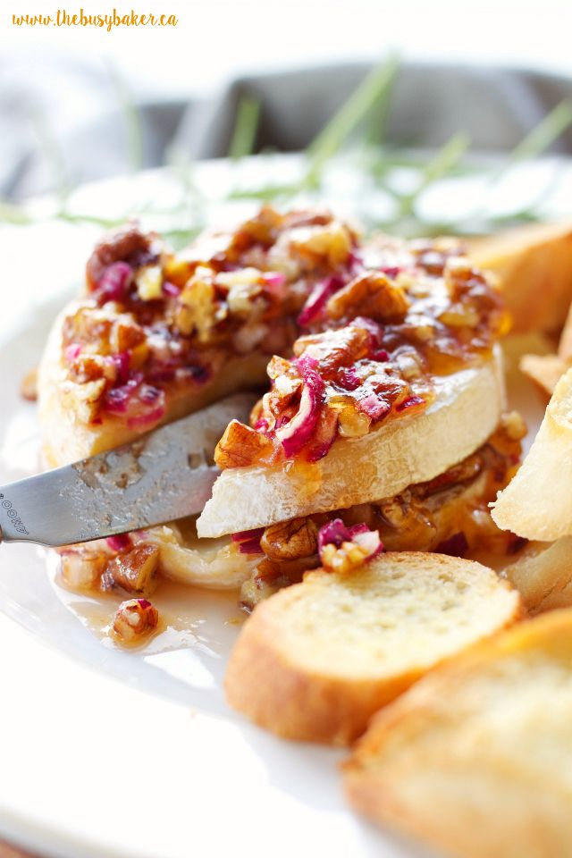 Apricot Pecan Baked Brie Appetizer Recipe Baked Brie Brie