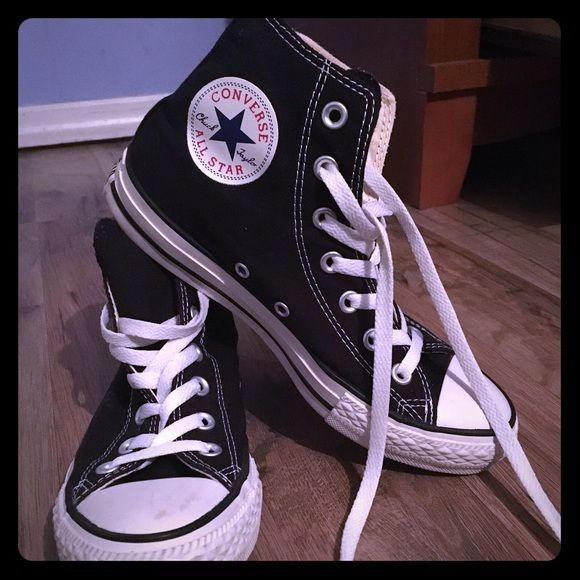 1585bf763d1e Black Converse All Star High Tops Black converse all star high tops