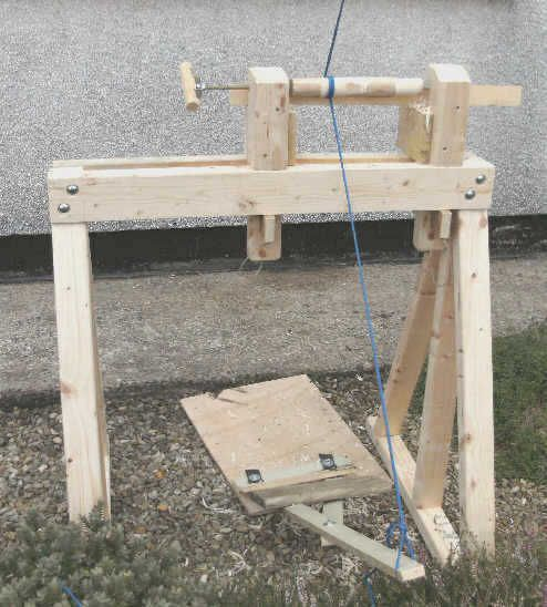 Make A Pole Lathe Out Of Rustic Wood Would Be Nicer For