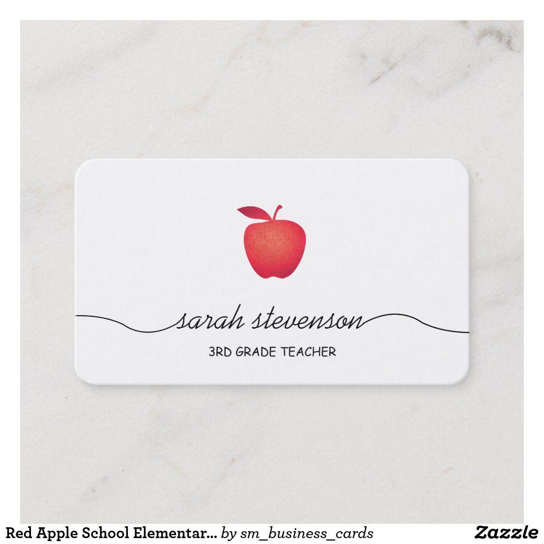 Pin On Teacher Tutor Business Card Templates