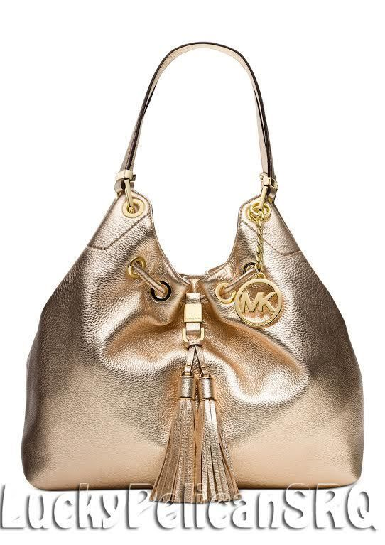 michael kors camden large drawstring shoulder tote bag pale gold nwt rh pinterest fr