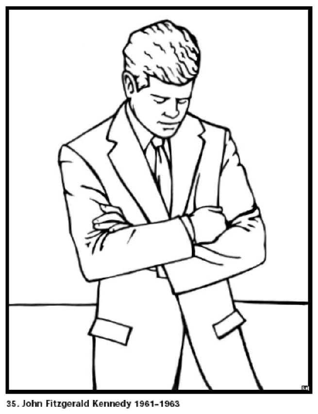 Free Coloring Pages For Kids John F Kennedy Our 35th President