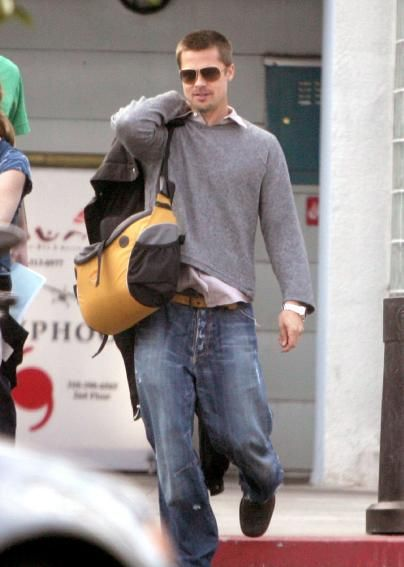 Brad Pitt in baggy jeans. MakeYourOwnJeans | Denims the