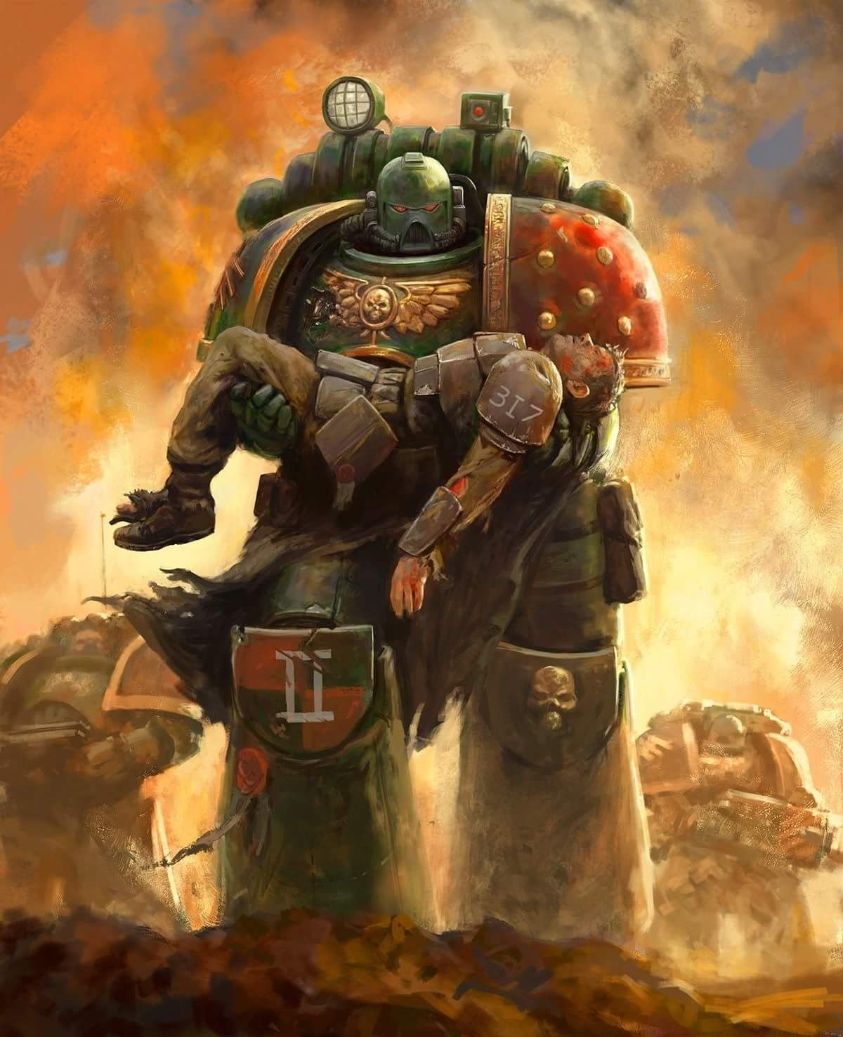 General Warhammer 40k Space Marines: Wouldn't Happen But Still A Nifty Image. It