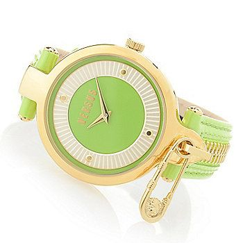 Versus by Versace Women's Key Biscayne Quartz Leather Strap Watch
