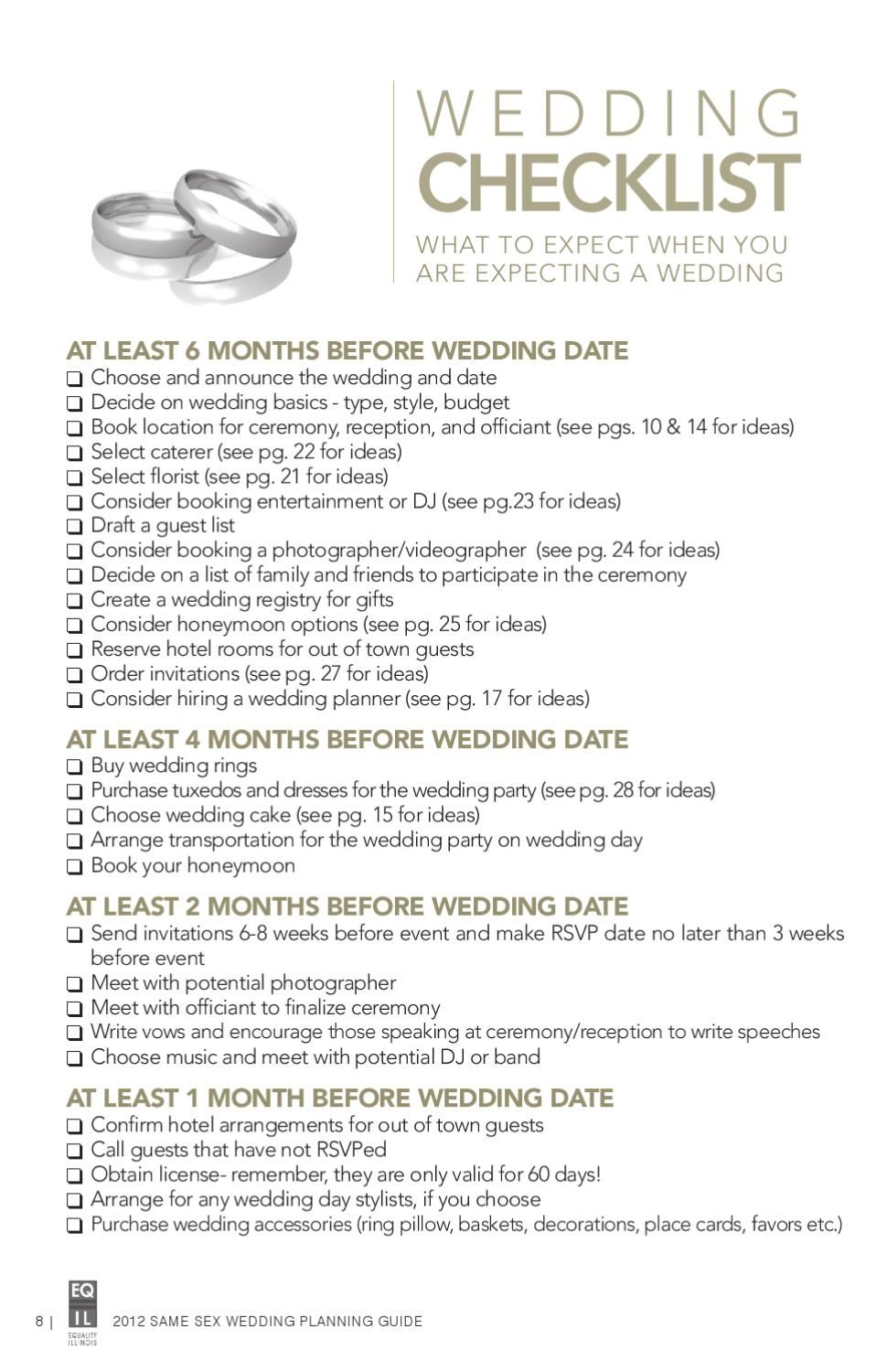 Same Sex Wedding Planning Guide
