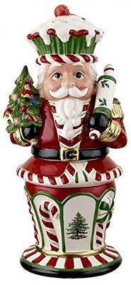 Spode Christmas Tree Peppermint Nutcracker Cookie Jar.
