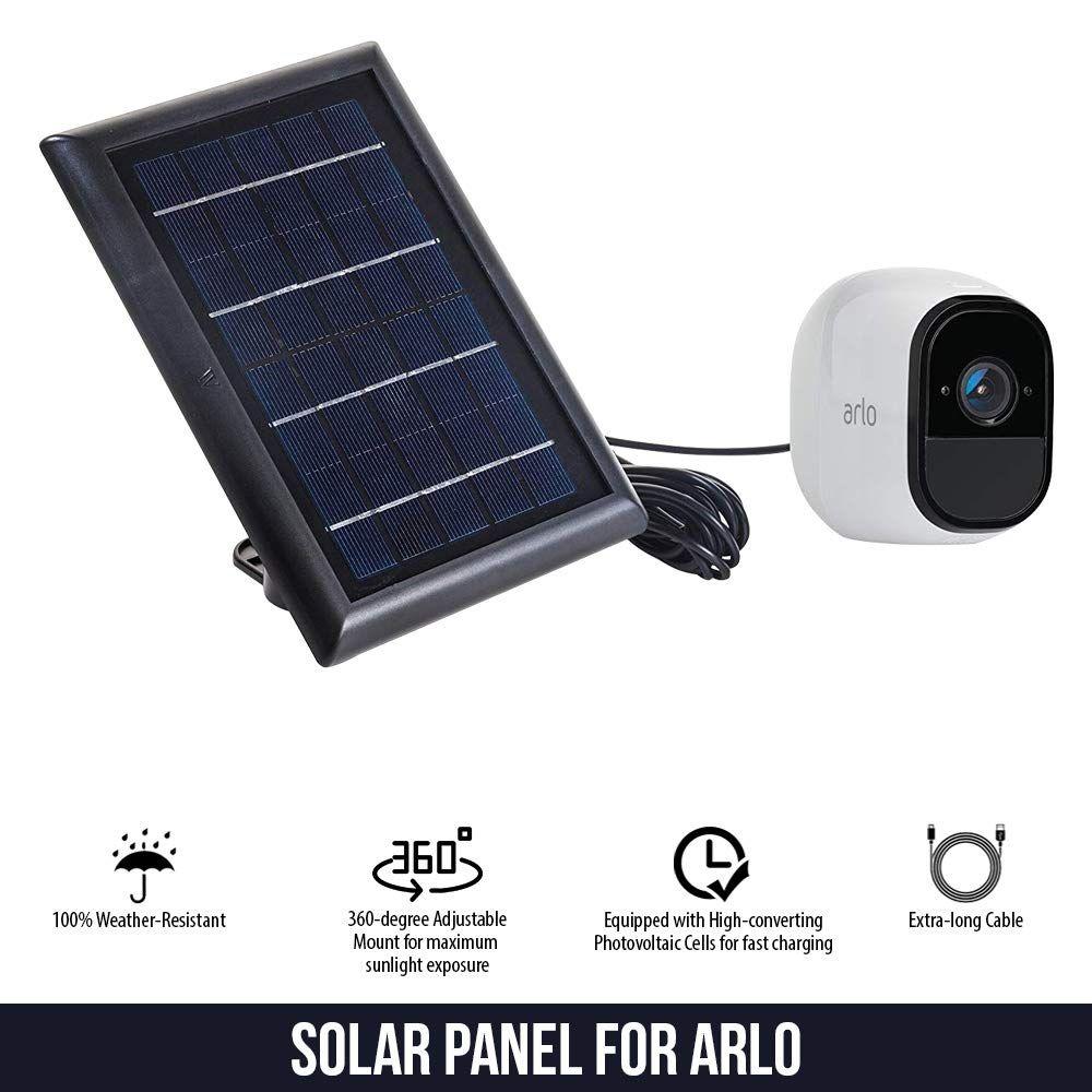 Solar Panel Compatible with Arlo Pro, Arlo Pro 2, Arlo GO