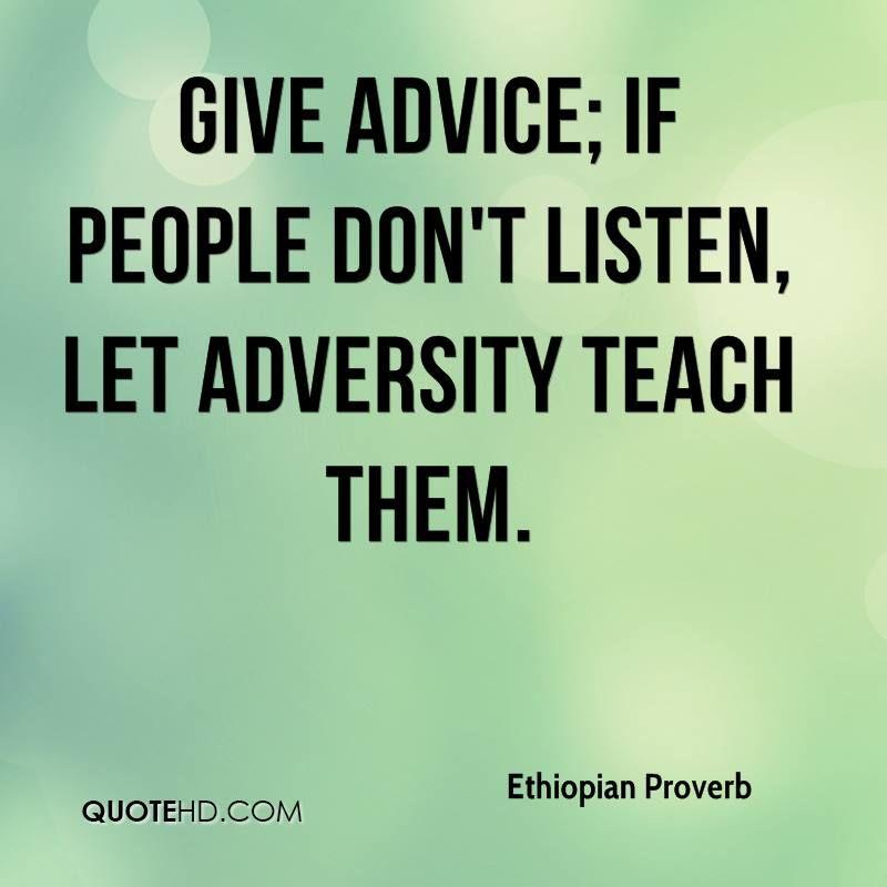people dont listen