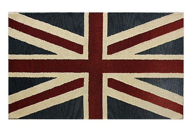 "7' 6""x9' 6"" The Brits Rug, Denim on"