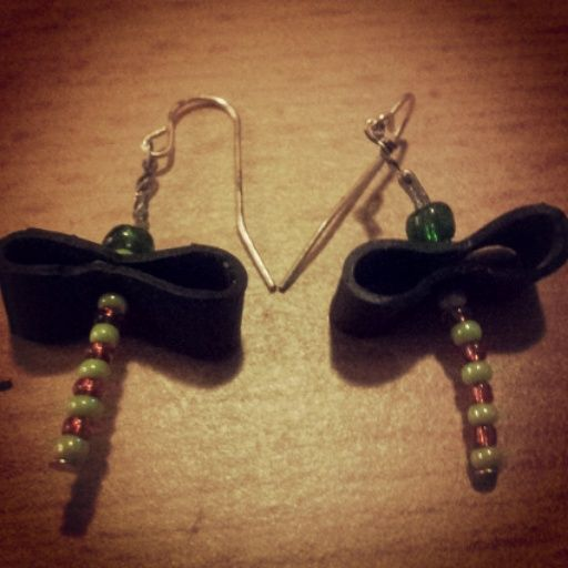 Schmuck Libellen Fahrradschlauch Ohrringe