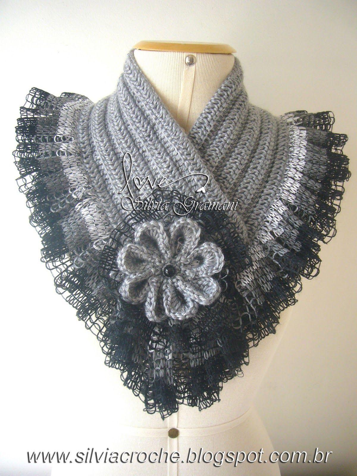 Gola Luana Diy Scarf Crochet Collar And Crochet
