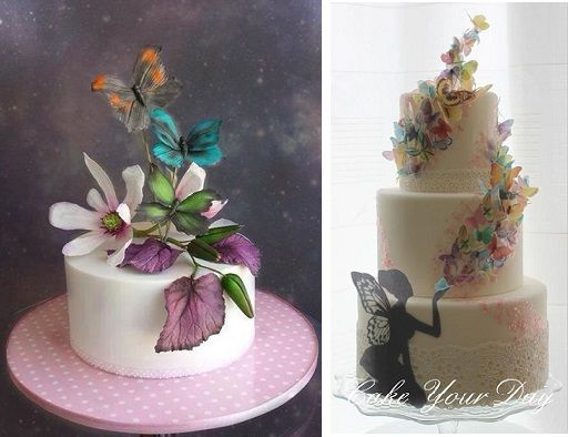 Midsummer Nights Dream cakes from Unusual Cakes for You left and