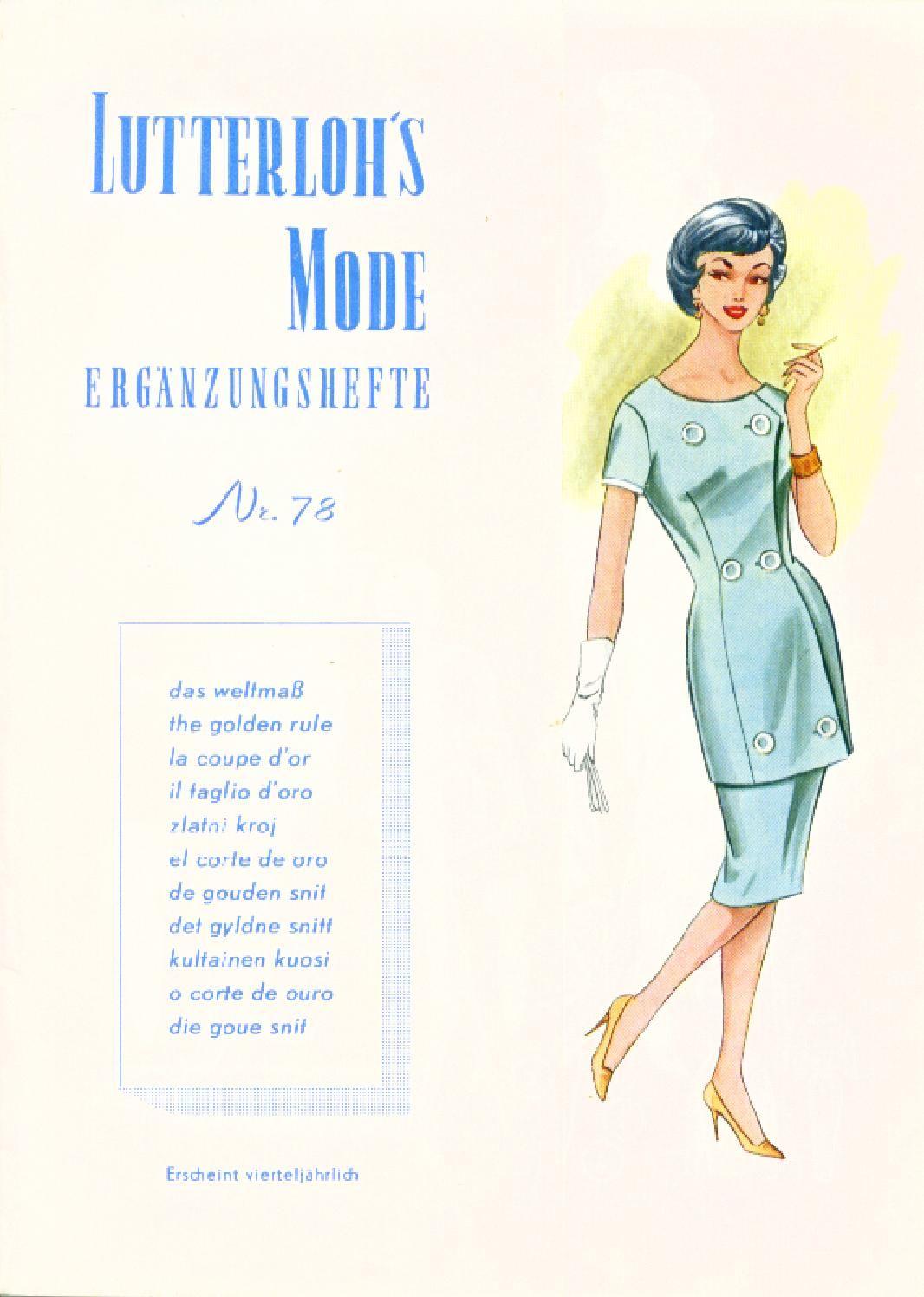 Vintage Sewing Patterns 78 autumn 1960 | Nähen