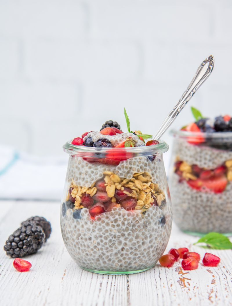 This simple vanilla chia pudding recipe only takes 3 minutes to prepare. Keep a batch in your fridge...