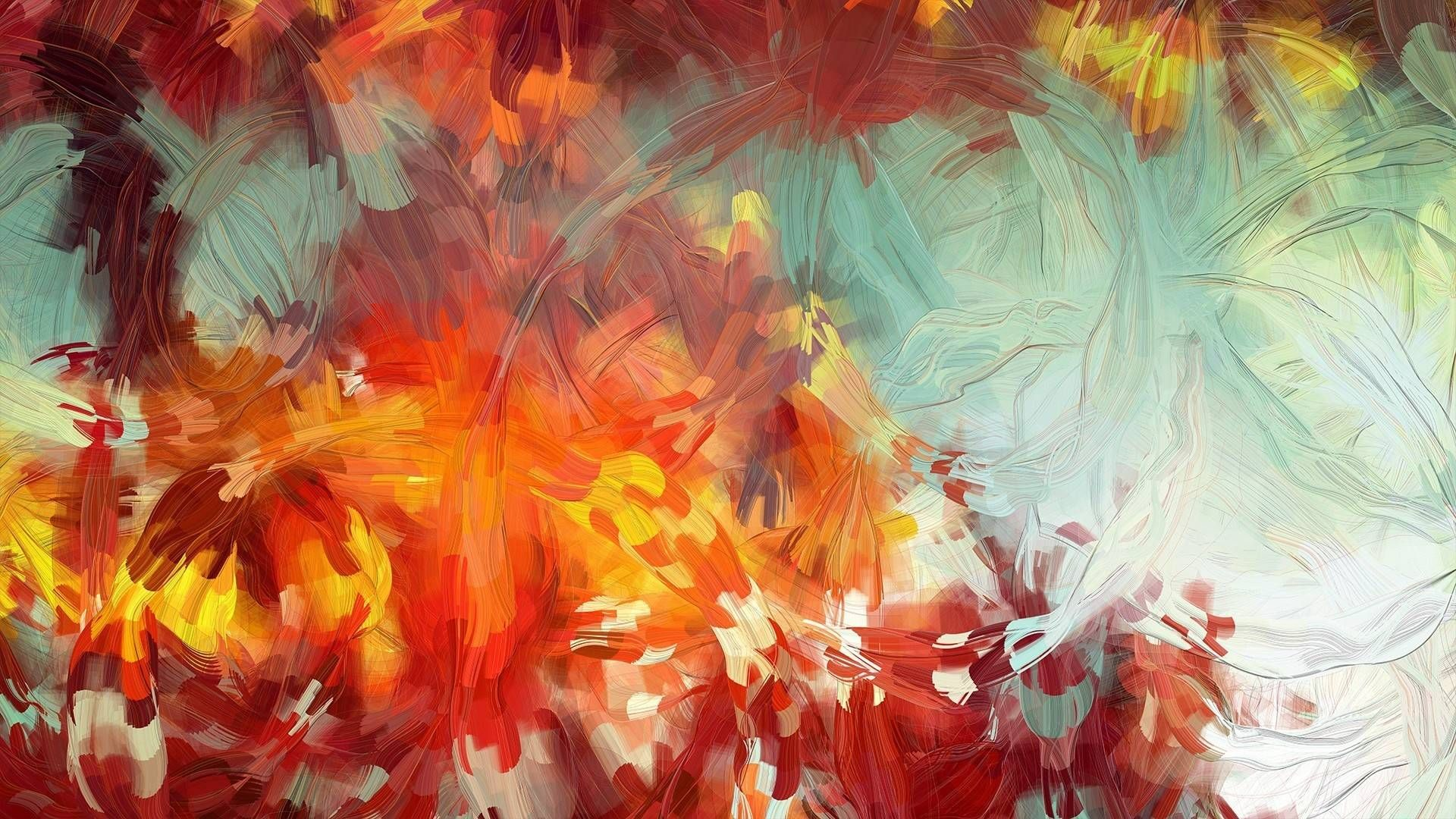 Abstract Christmas Painting Hd Wallpapers Projects