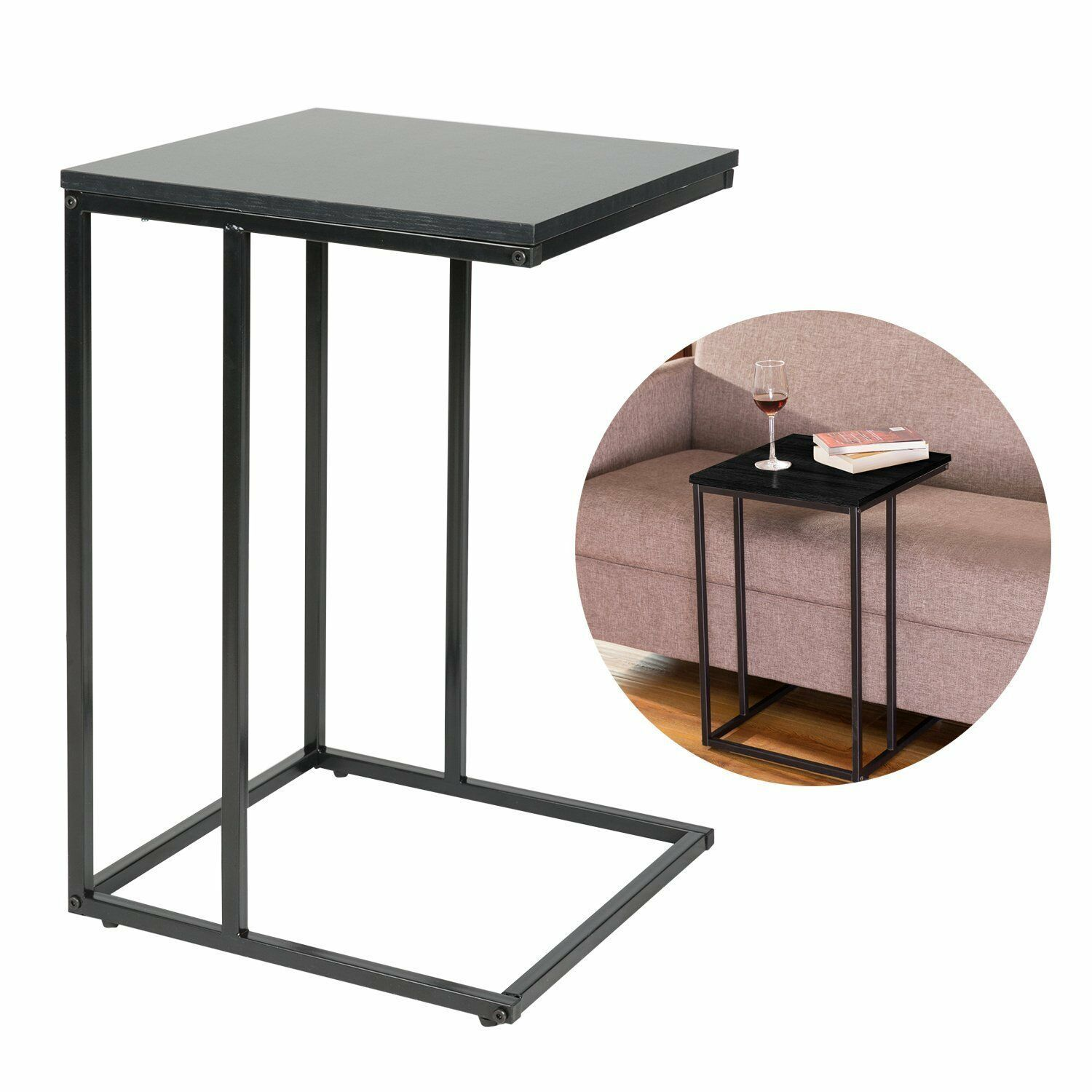 Slide Under Sofa Side Table With Wood Finish And Steel Construc New Sofa Table Ideas Of Sofa Table Sofa In 2020 Sofa Tables For Sale Sofa Side Table Couch Table