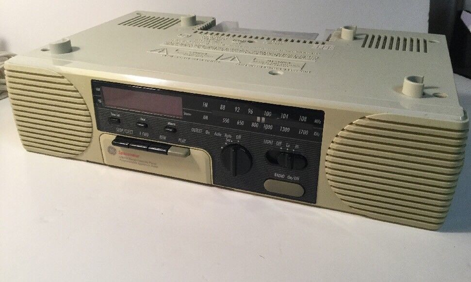 Ge Spacemaker Radio Cassette Player Under Cabinet 7 4285a Tiny