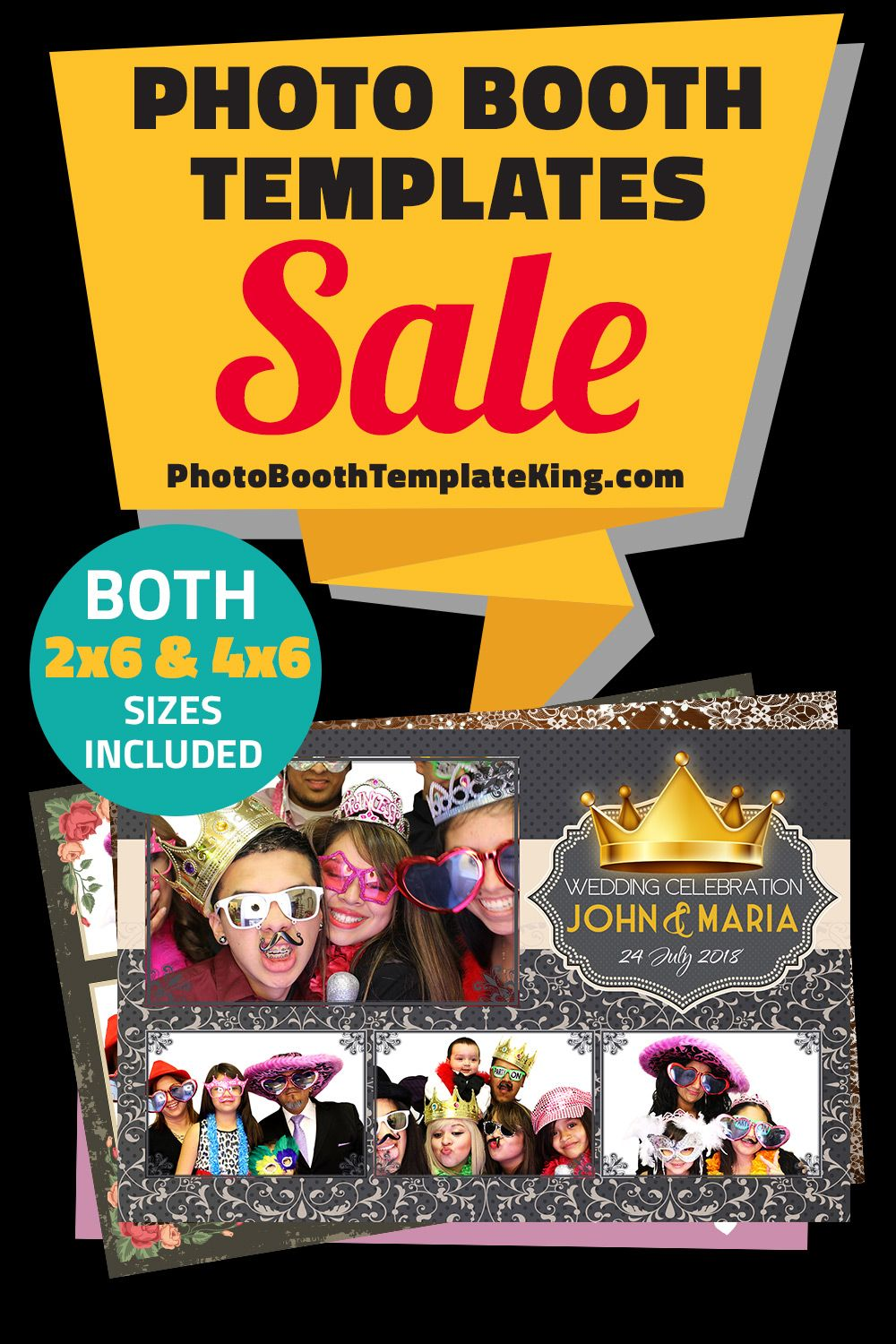 Photo Booth Template Sale You Can Buy Photo Booth Templates For 20 And Under Both 2x6 4x6 Sizes Are Included All Sal Buy Photo Booth Photo Booth Templates Photo booth templates for sale