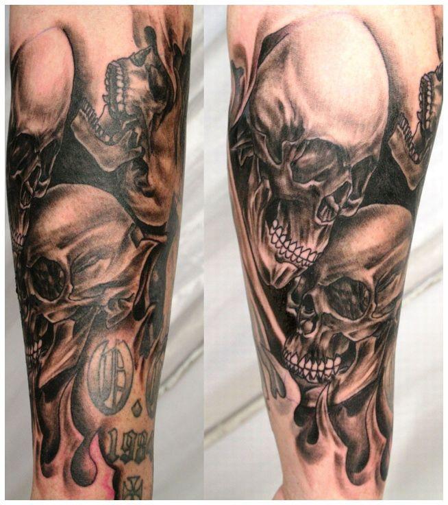 Popular Tattoo Design Skull Half Sleeve Tattoo Designs Skull Sleeve Tattoos Skull Sleeve Skull Couple Tattoo