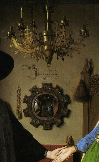 Jan Van Eyck The Arnolfini Wedding Portrait 1434 Detail