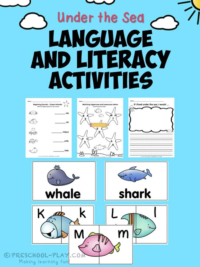 Printable Under the Sea Math and Literacy Activities ...