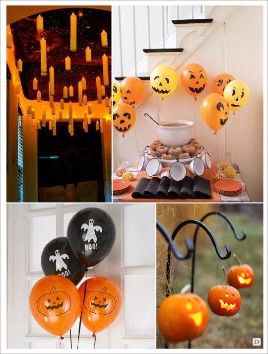 Decoration halloween cierges volants ballons citrouilles fant me citrouille photophore - Deco citrouille halloween ...
